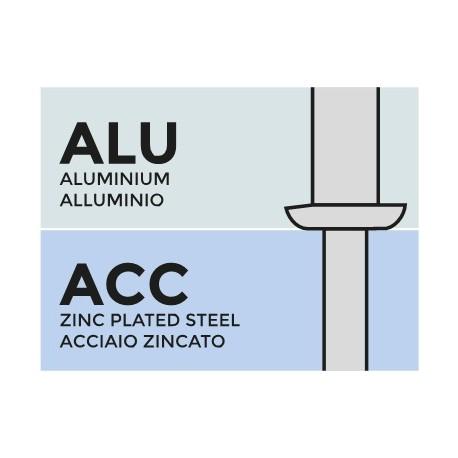 рифленая алюминий Mg 5 / сталь оц. 4,0х12